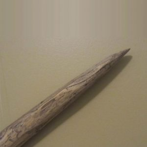 Wooden Digging Stick Close Up